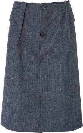 High-Rise Wool Skirt