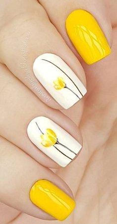 yellow nail art - Google Search