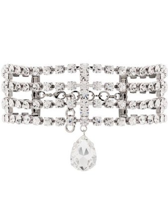 Alessandra Rich crystal-embellished Choker Necklace - Farfetch