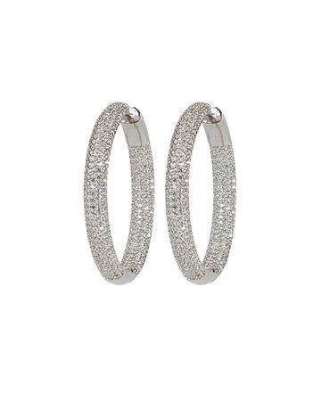 Nickho Rey   Tire Crystal Hoop Earrings   INTERMIX®