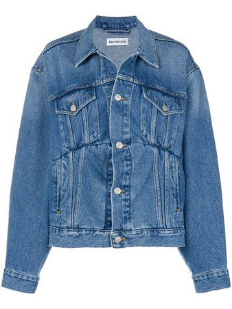 Balenciaga Swing Denim Jacket - Farfetch