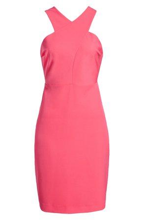 Sam Edelman Crisscross Halter Sheath Dress | Nordstrom
