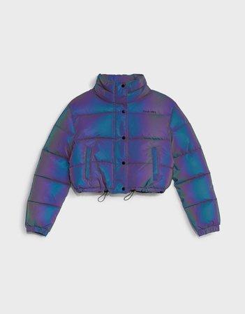 Gathered puffer jacket - Outerwear - Woman | Bershka