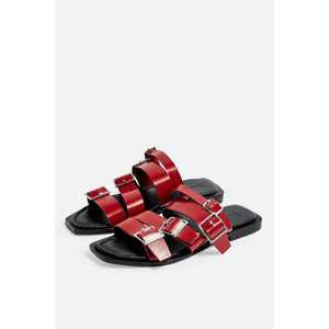 FELIX Red Buckle Sandals