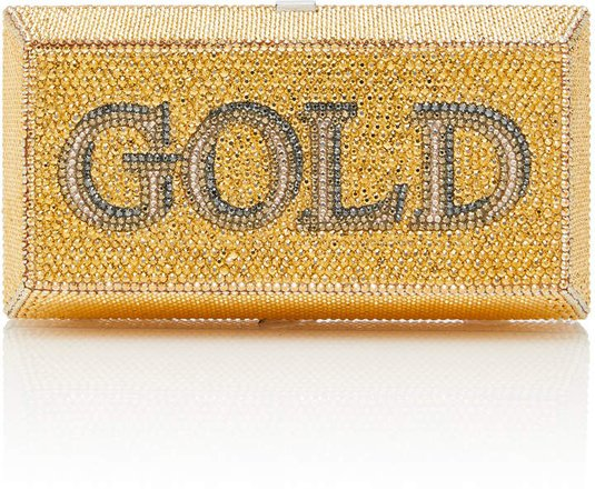 Couture Gold Brick Clutch