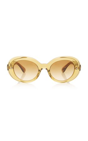 Oliver Peoples Erissa Round-Frame Acetate Sunglasses