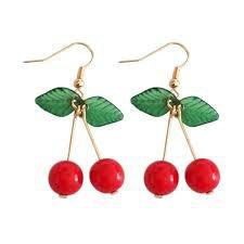 cherry earring - Google Search