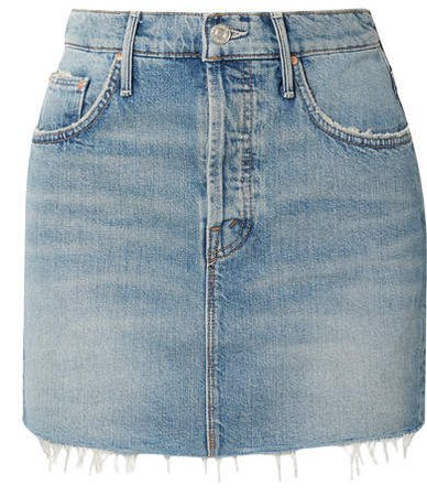 The Vagabond Distressed Denim Mini Skirt - Mid denim
