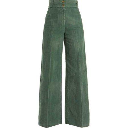 Gucci Wide-leg cotton-blend corduroy trousers