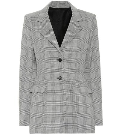Check Wool-Blend Blazer | Unravel - Mytheresa