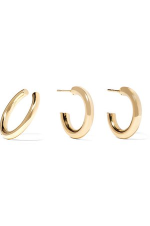 Jennifer Fisher Huggie gold plated earring