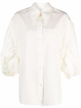 Shop Simone Rocha gathered puff-sleeve blouse with Express Delivery - FARFETCH