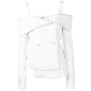 OFF-WHITE - OFF-THE-SHOULDER SHORT DRESS