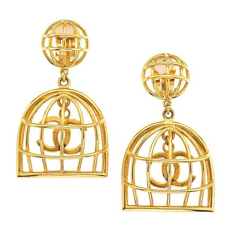 Chanel Birdcage Earrings For Sale at 1stdibs
