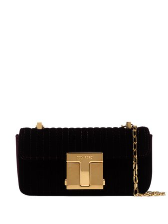 Tom Ford small quilted shoulder bag purple L1326TIVE003 - Farfetch