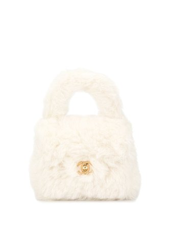 Chanel '92 Furry Mini Turn-Lock Handbag