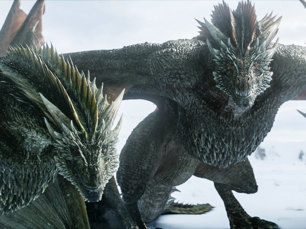 rhaegal and drogon game of thrones