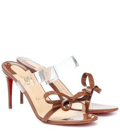 Christian Louboutin - Just Nodo 85 PVC and patent-leather sandals | Mytheresa