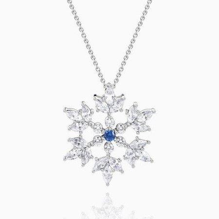 Snowflake Necklace - Big Silver - Christmas - Gifts