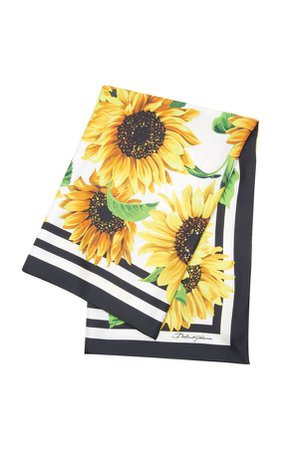dolce and gabbana floral sunflower scarf
