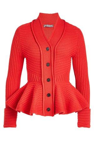 Wool Peplum Cardigan Gr. S