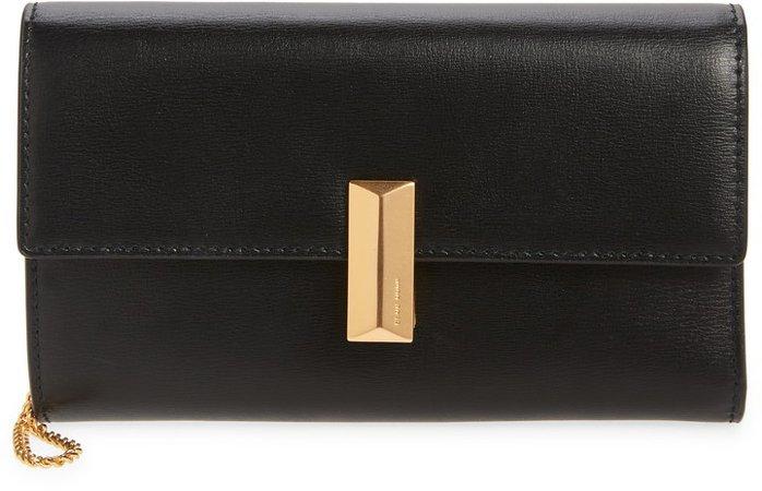 Mini Nathalie Leather Wristlet Clutch