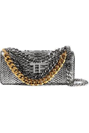 TOM FORD | Embellished metallic python shoulder bag | NET-A-PORTER.COM