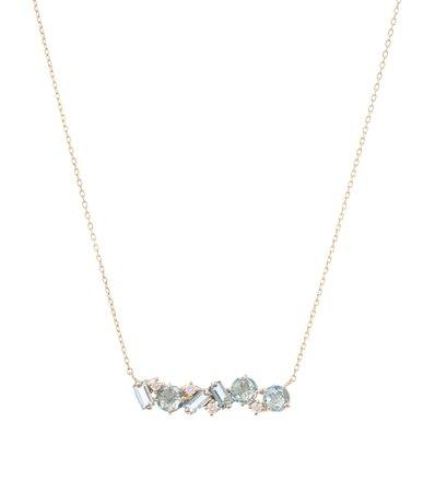 Suzanne Kalan - 14kt gold necklace with topaz and diamonds | Mytheresa