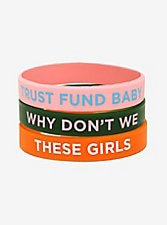 Why Don't We Trust Fund Baby Rubber Bracelet Set