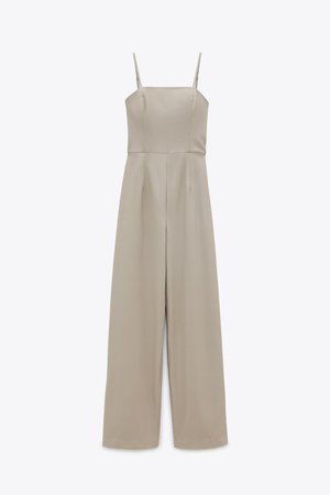 FAUX LEATHER LONG JUMPSUIT | ZARA United States