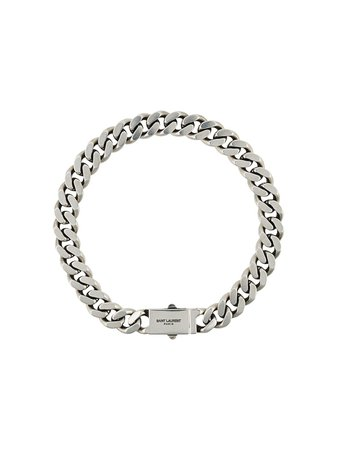 Shop silver Saint Laurent curb chain necklace with Express Delivery - Farfetch
