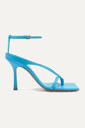 Blue Leather sandals   Bottega Veneta   NET-A-PORTER