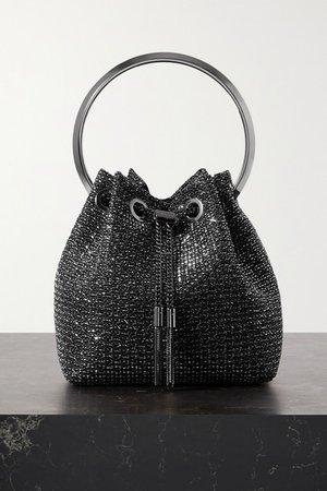 Bon Bon Lurex Bucket Bag - Black