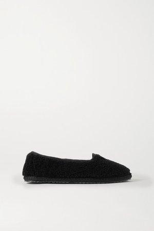 Shearling Slippers - Black