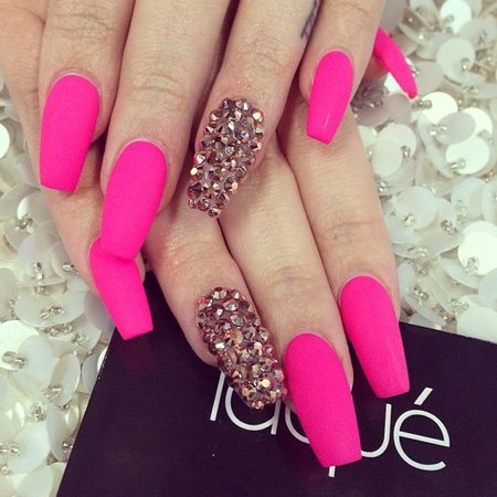 Matte Pink Acrylic Nails – images free download