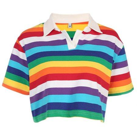 Rainbow Collar Crop - Own Saviour