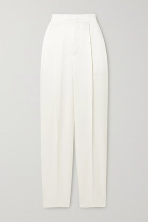 Dundas | Hammered-satin straight-leg pants | NET-A-PORTER.COM