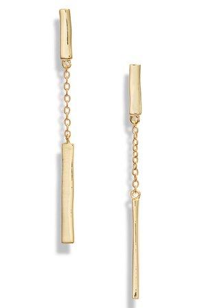 gorjana Taner Bar Chain Earrings | Nordstrom