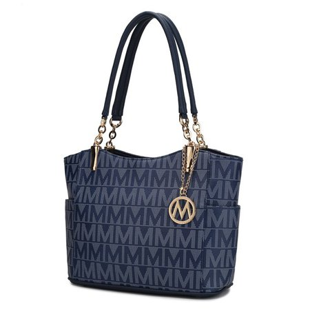 "MKF - MKF Collection Braylee ""M"" Signature Tote by Mia K. - Walmart.com - Walmart.com blue"