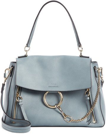 Medium Faye Leather Shoulder Bag