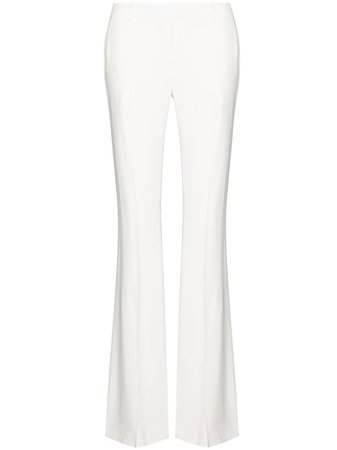 Alexander McQueen, Crease Detail Flared Trousers