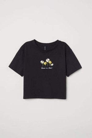 Short T-shirt - Black
