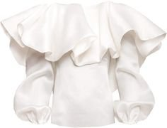 Alexandre Vauthier Ruffled Neckline Silk Blouse