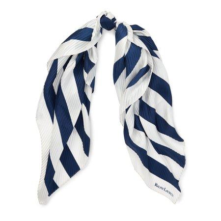polo-ralph-lauren-NavyCream-Pleated-Striped-Silk-Scarf.jpeg (2000×2000)