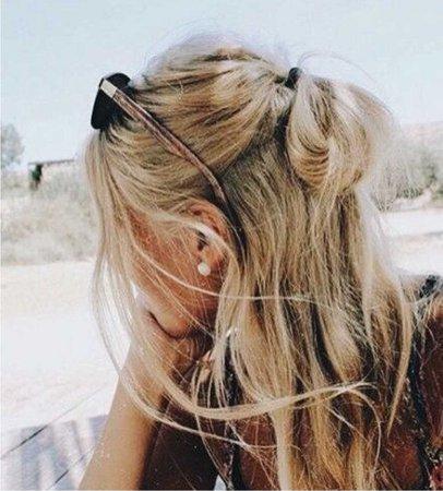 blonde hair beach hair
