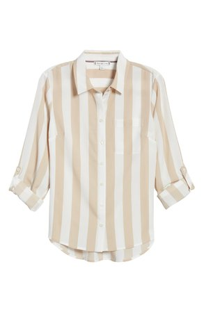 Tommy Hilfiger Lawn Stripe Button-Up Shirt | Nordstrom