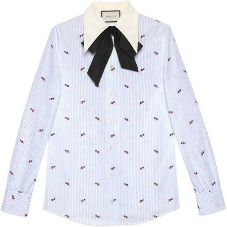 Gucci Pierced Hearts Fil Coupé Shirt ($715)