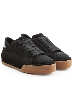 Suede Sneakers with Faux Shearling Insole Gr. IT 38.5