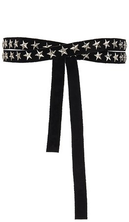 Norma Kamali Star Studded Skinny Belt in Black | REVOLVE