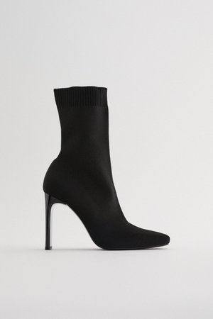 HEELED SOCK-STYLE ANKLE BOOTS TRF | ZARA United States